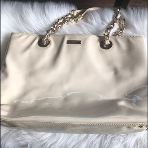 Kate spade patent leather shoulder chain bag